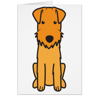 Lakeland Terrier Dog Cartoon Card
