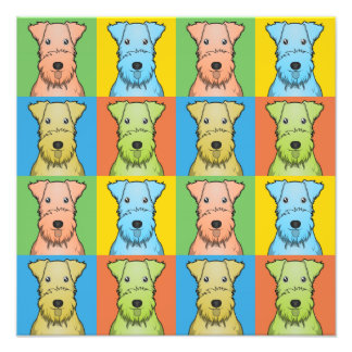 Lakeland Terrier Dog Cartoon Pop-Art Photo Print