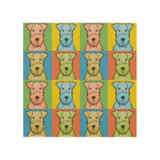 Lakeland Terrier Dog Cartoon Pop-Art Wood Canvas