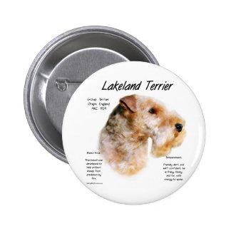 Lakeland Terrier History Design Pins