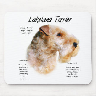 Lakeland Terrier History Design Mouse Pad
