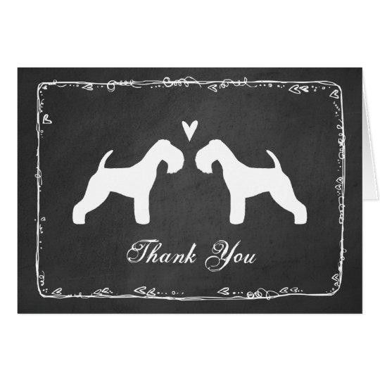 Lakeland Terrier Silhouettes Wedding Thank You Card