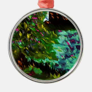 lakes and trees christmas ornament
