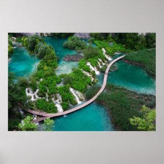 Lakes and waterfalls photo print Plitvice Croatia