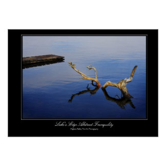 Lake's Edge Abstract Tranquility gallery print