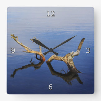 Lakes Edge Tranquillity Square Wall Clock