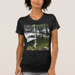 Lakes Snow Trees Forrests Tee Shirts