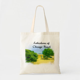 Lakeshores of Chicago Beach Budget Tote Bag