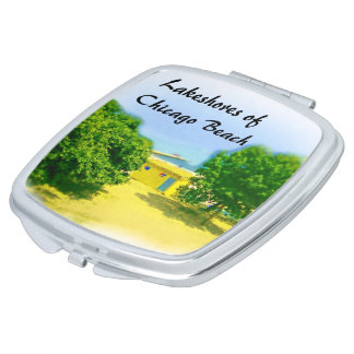 Lakeshores of Chicago Beach Mirror For Makeup