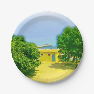 Lakeshores of Chicago Beach 7 Inch Paper Plate