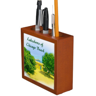 Lakeshores of Chicago Beach Pencil Holder