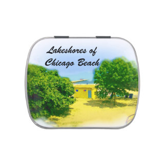 Lakeshores of Chicago Beach Jelly Belly Tins