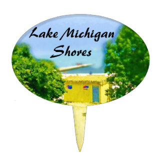 Lakeshores of the Chicago Beach Cake Picks