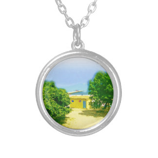 Lakeshores of the CHicago Beach Round Pendant Necklace