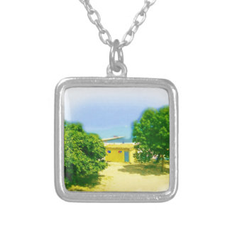 Lakeshores of the CHicago Beach Square Pendant Necklace