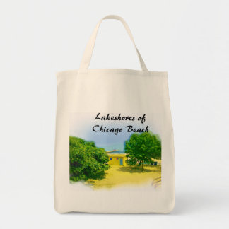 Lakeshores of the Chicago Beach Grocery Tote Bag