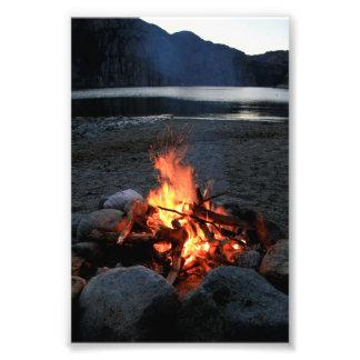 Lakeside Bonfire Photo Art