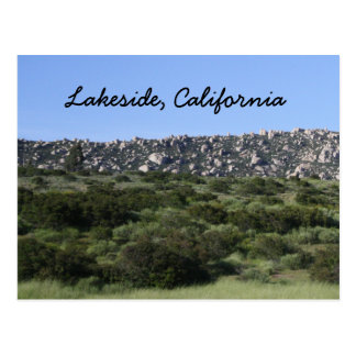 Lakeside, California Mountain Postcard