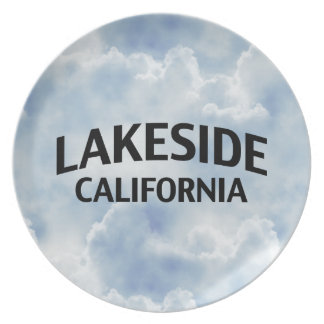 Lakeside California Party Plates