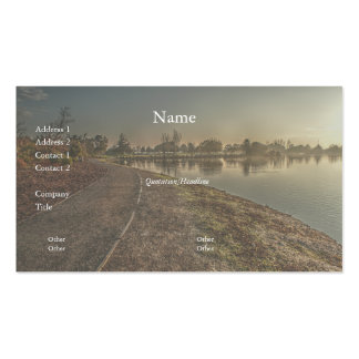 Lakeside Path at Dawn 1 Business Card Business Card Template