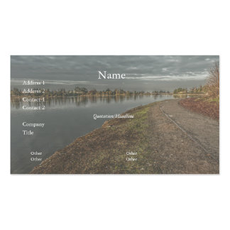 Lakeside Path at Dawn 2 Business Card Business Card Templates