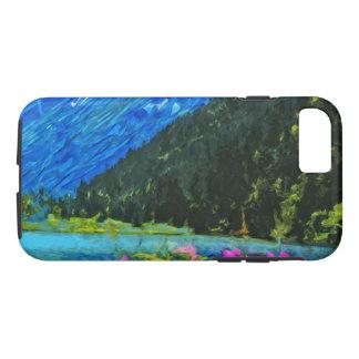 Lakeside Road to Seward Alaska Abstract iPhone 7 Case