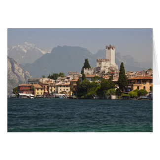 Lakeside town, Malcesine, Verona Province, Italy Greeting Card