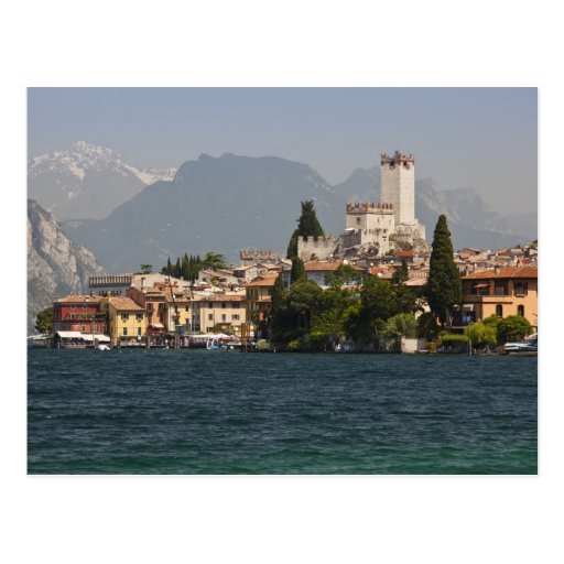 Lakeside town, Malcesine, Verona Province, Italy Postcard