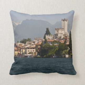 Lakeside town, Malcesine, Verona Province, Italy Throw Pillow