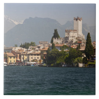 Lakeside town, Malcesine, Verona Province, Italy Tile