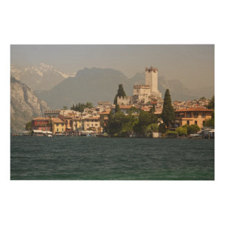 Lakeside town, Malcesine, Verona Province, Italy Wood Canvas