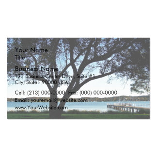 Lakeside view business cards