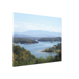 Lakeside view canvas print