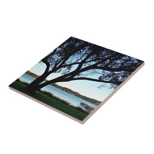 Lakeside view tiles