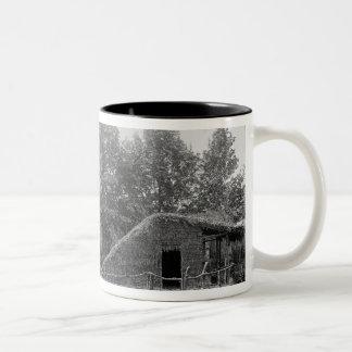 Lakeside village at the Universal Exhibition Two-Tone Coffee Mug