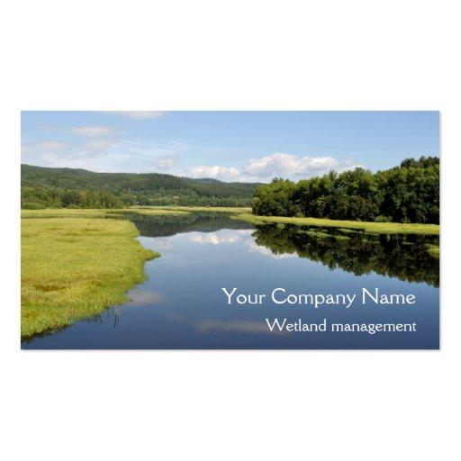 Lakeside wetlands business card
