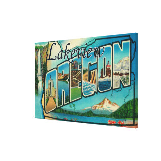 Lakeview, Oregon - Large Letter Scenes Canvas Print