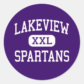 Lakeview - Spartans - Junior - Battle Creek Round Sticker