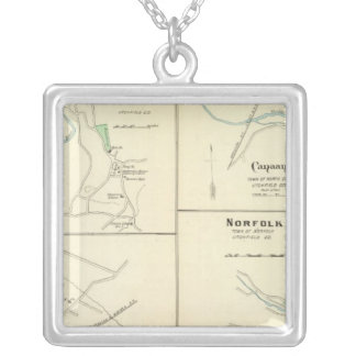 Lakeville, Norfolk, Salisbury Silver Plated Necklace