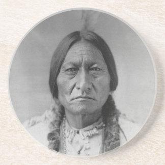 Lakota American Indian Chief Sitting Bull Sandstone Coaster