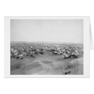 "Lakota ""Hostile Indian Camp"" Photograph Greeting Card"
