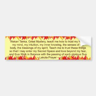 lakota prayer bumper sticker car bumper sticker