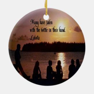 Lakota Proverb Round Ceramic Decoration