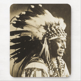 Lakota Sioux Chief White Swan Mouse Mat