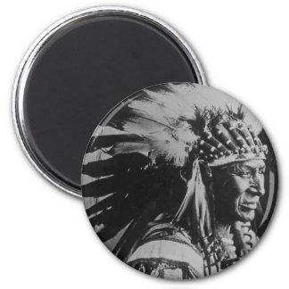 Lakota Sioux Vintage Chief White Swan 6 Cm Round Magnet