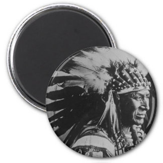 Lakota Sioux Vintage Chief White Swan Magnet
