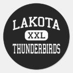 Lakota - Thunderbirds - High - West Chester Ohio Round Sticker