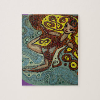 lakshimi in copper on the beach jigsaw puzzle