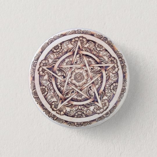 Lakshimi Pentacle Button Pin