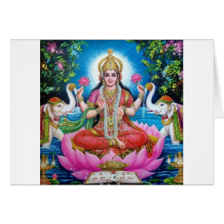 Lakshmi Goddess of Love, Prosperity, and Wealth Card
